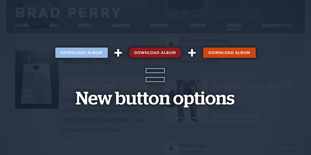 Custom styled buttons
