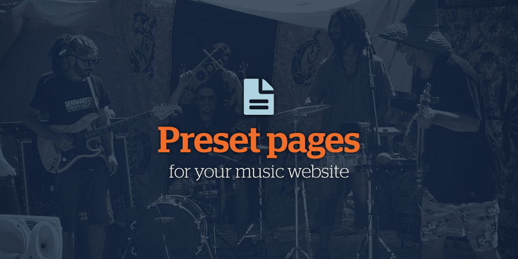 Preset pages band website