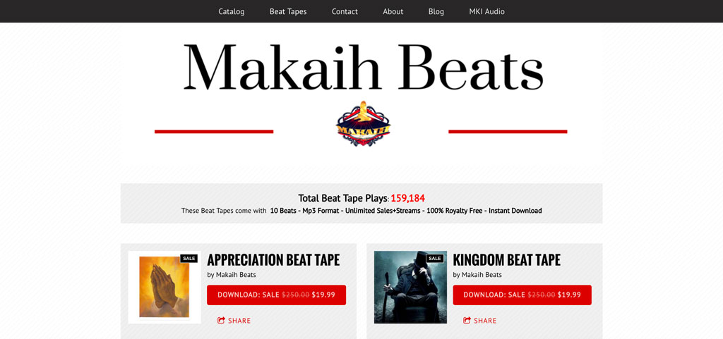 Buy beats website example