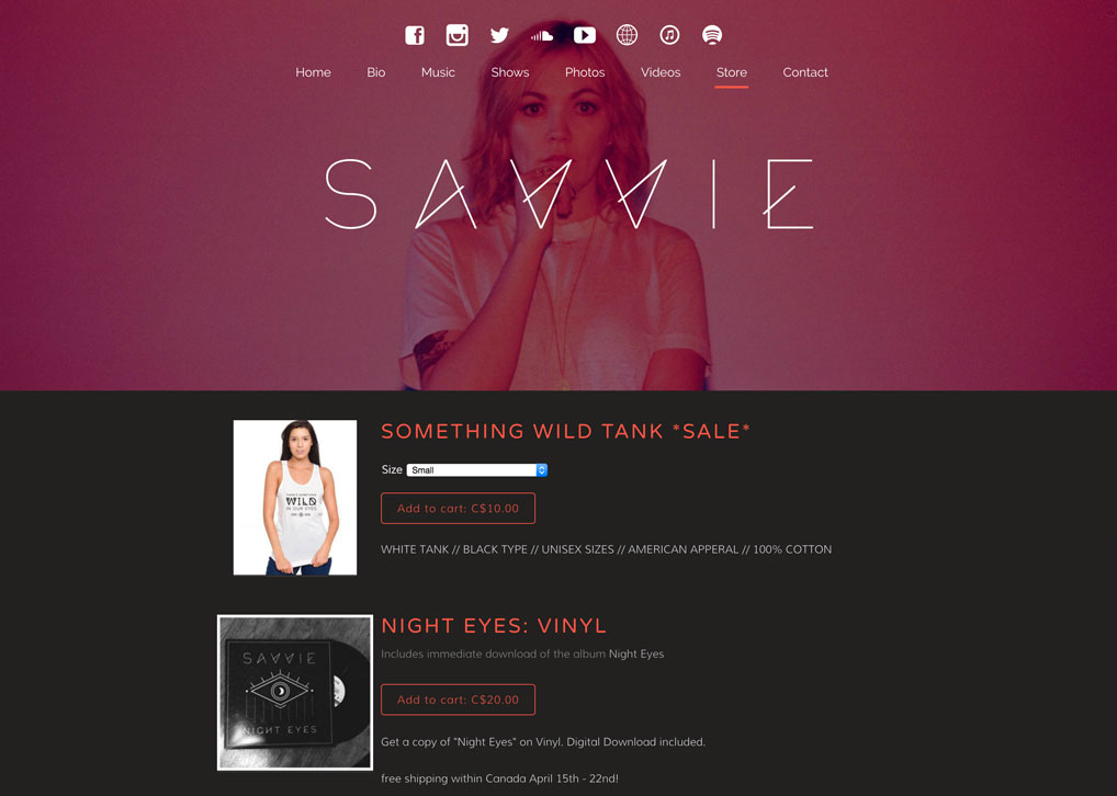 Sell music, merch & tickets commission-free - Savvie Store