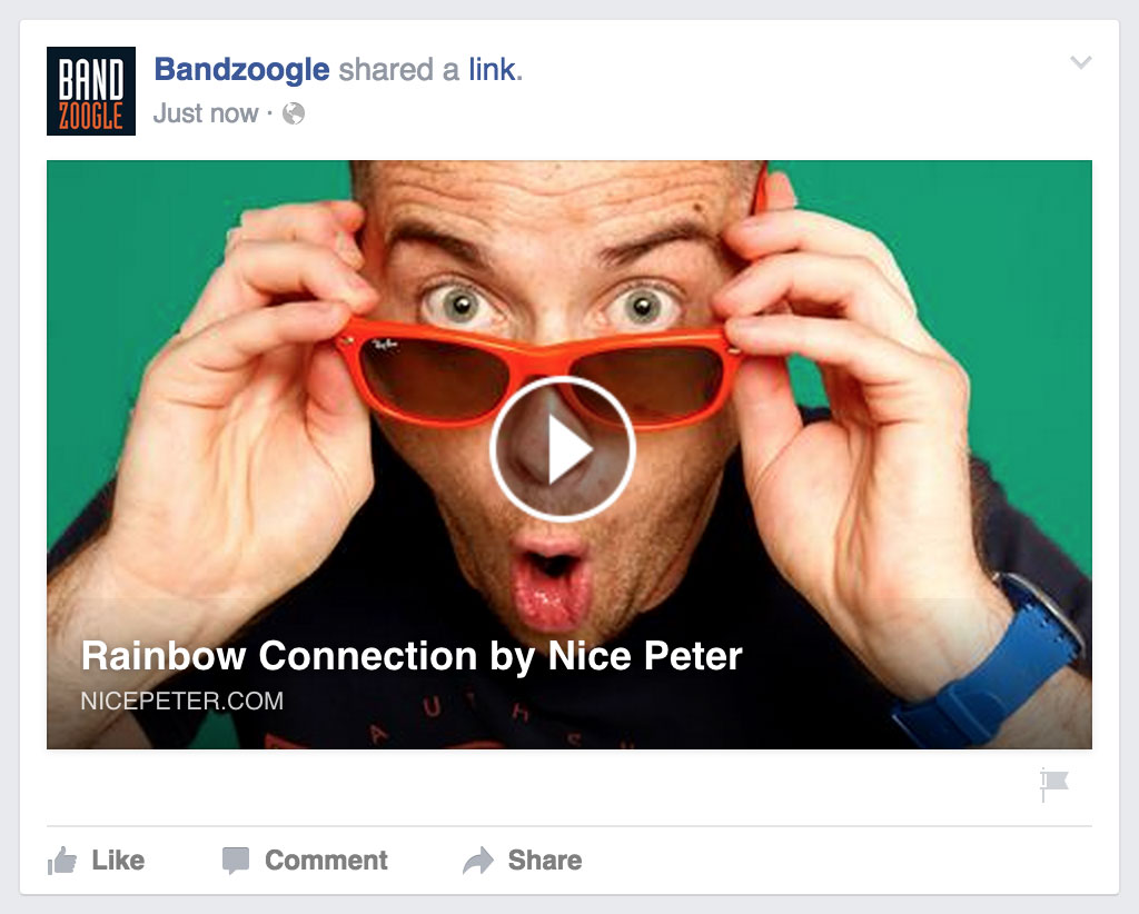Promote your music with Bandzoogle's Facebook, Twitter & Embeddable Players