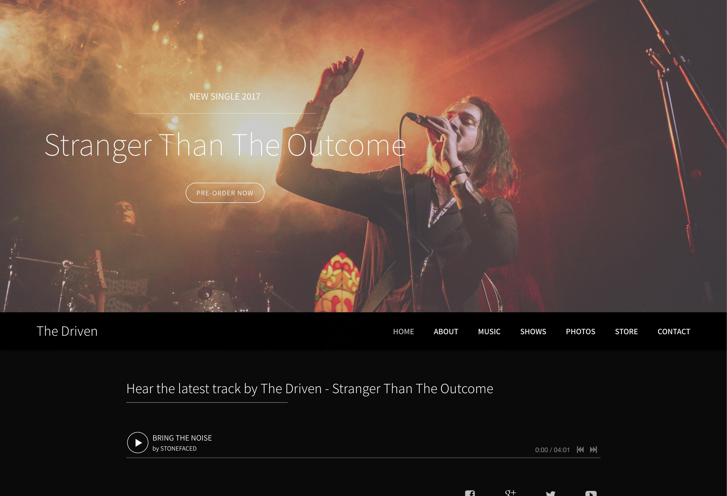 Rock band website template