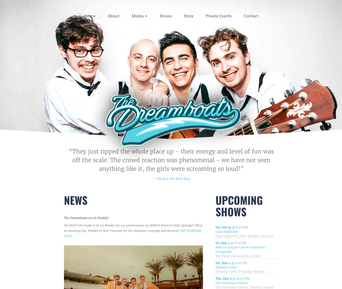 Band website template customization