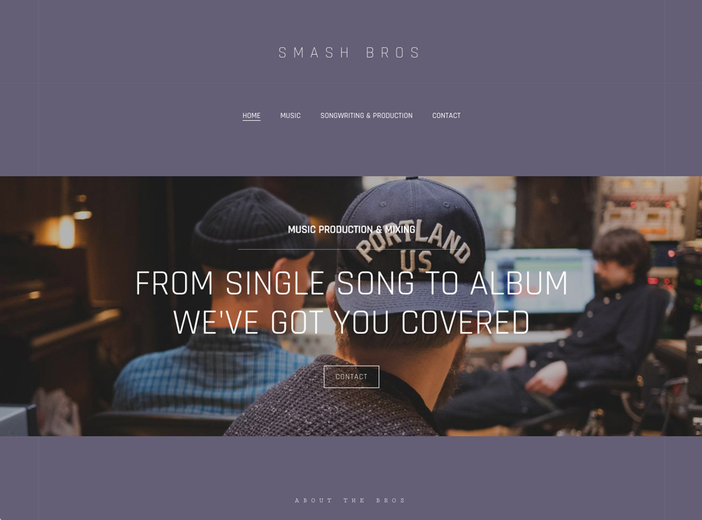 Modern website theme