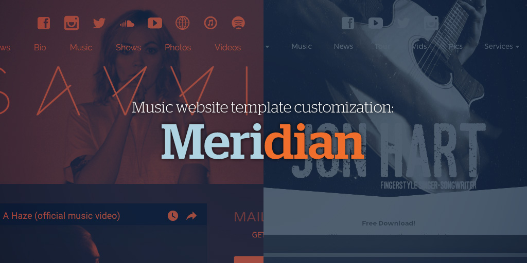 Music Website Template Customization: Meridian