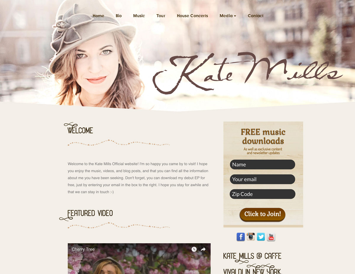 Kate Mills website