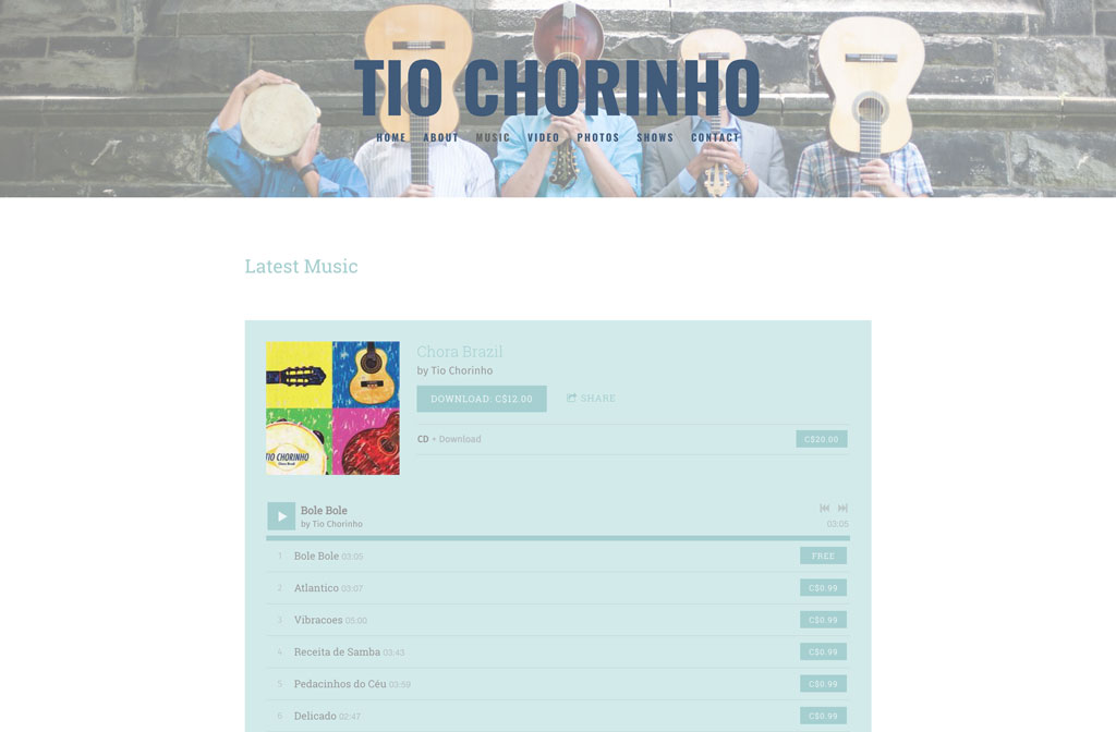 Tio Chorino website