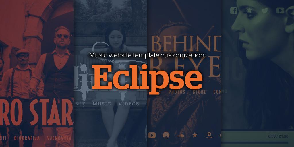 Music Website Template Customization: Eclipse