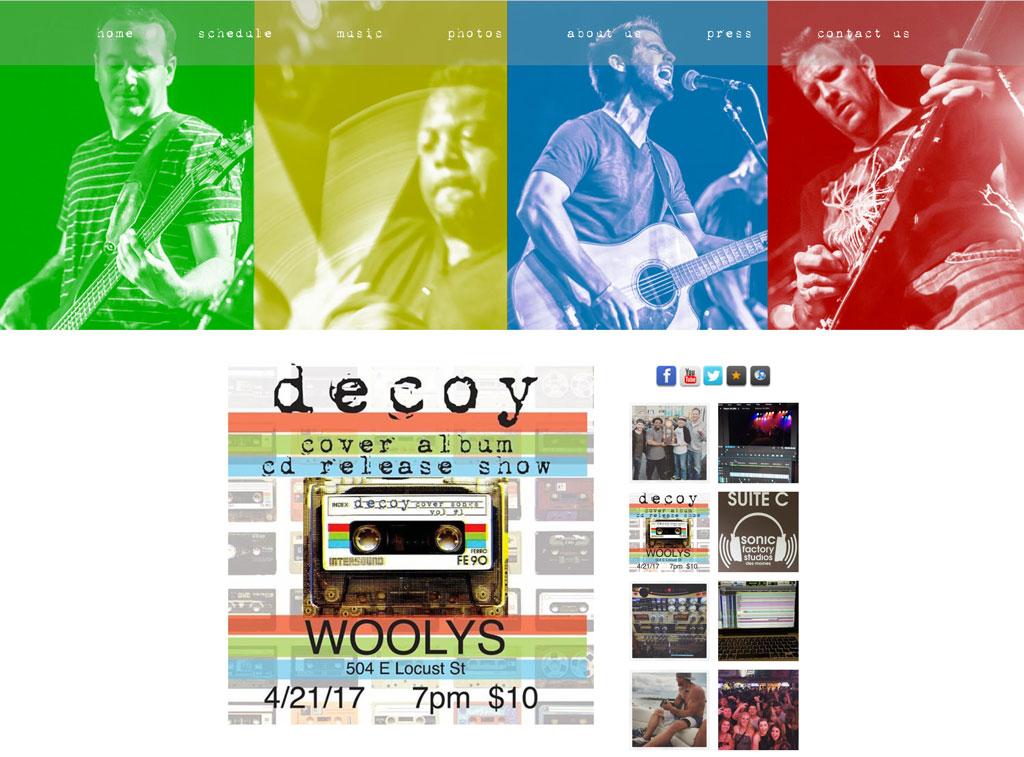 Decoy Band website template