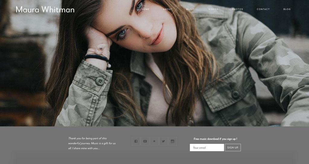 Maura Whitman website template