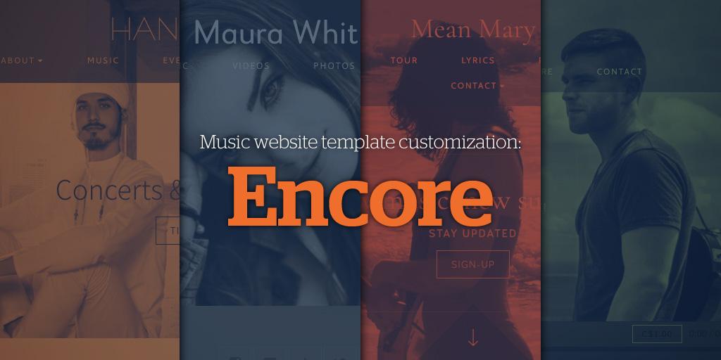Music Website Template Customization: Encore