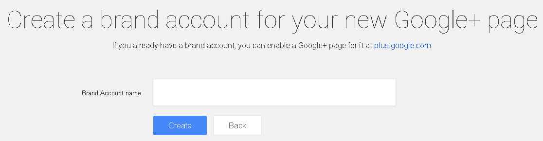 Create a Google Brand account