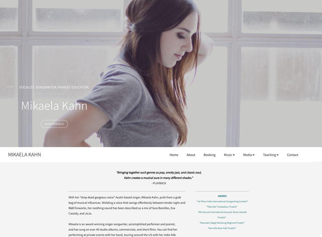 Mikaela Kahn website customization