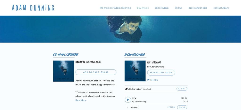 Adam Dunning website customization