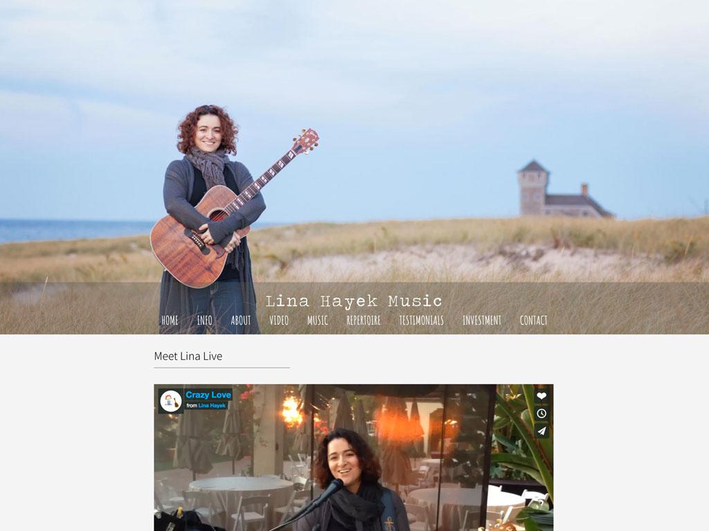 Wedding musician website customization