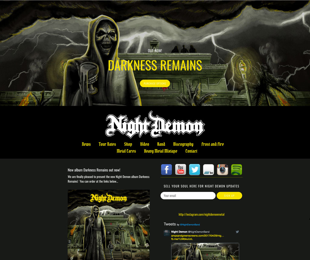 Night Demons heavy metal music website