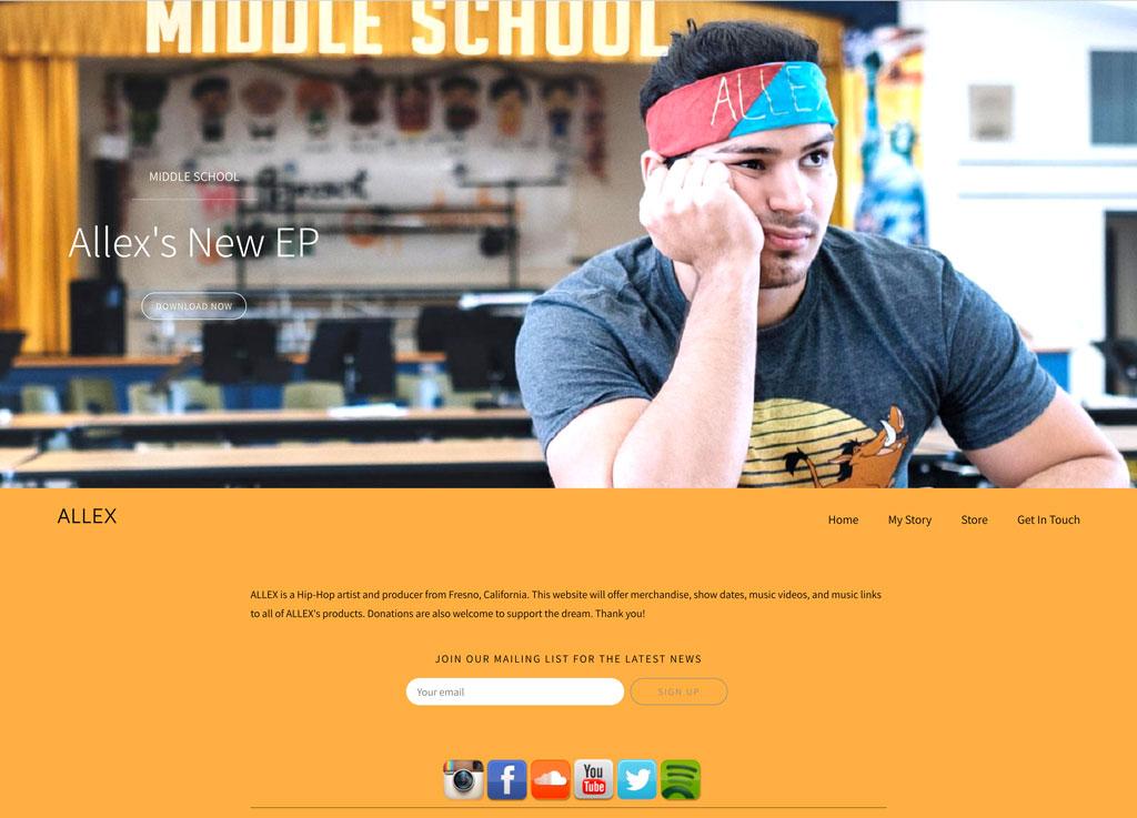 Music website Zenith customzation