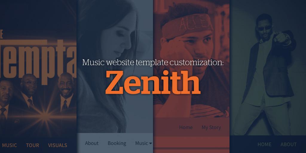 Music Website Template Customization: Zenith