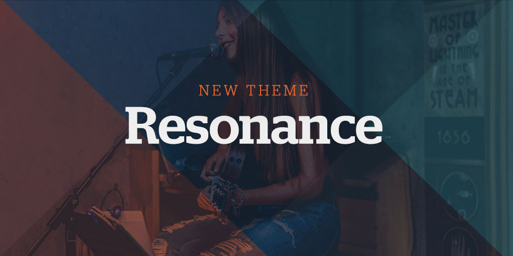 New Website Theme: Resonance