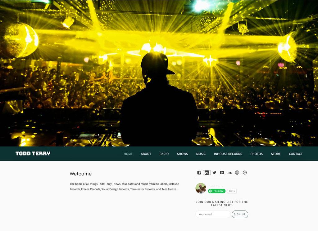 Todd Terry DJ website