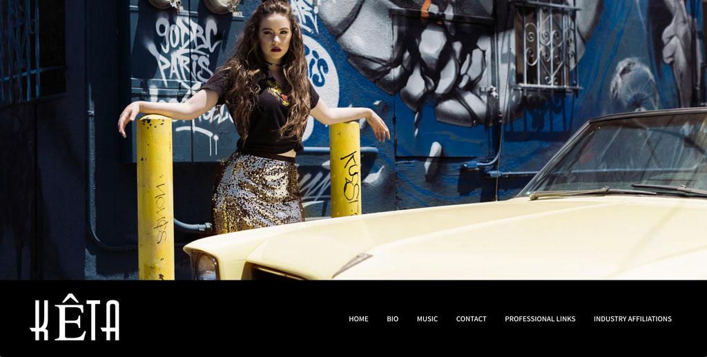 Keta music website customzation