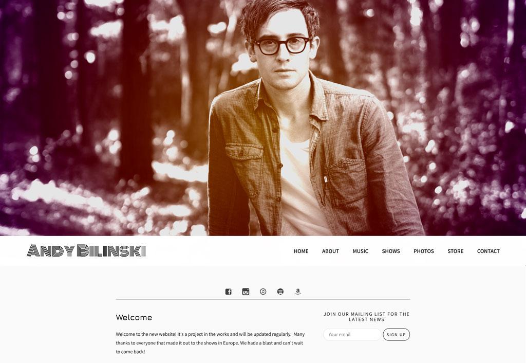 Andy Bilinski music website template
