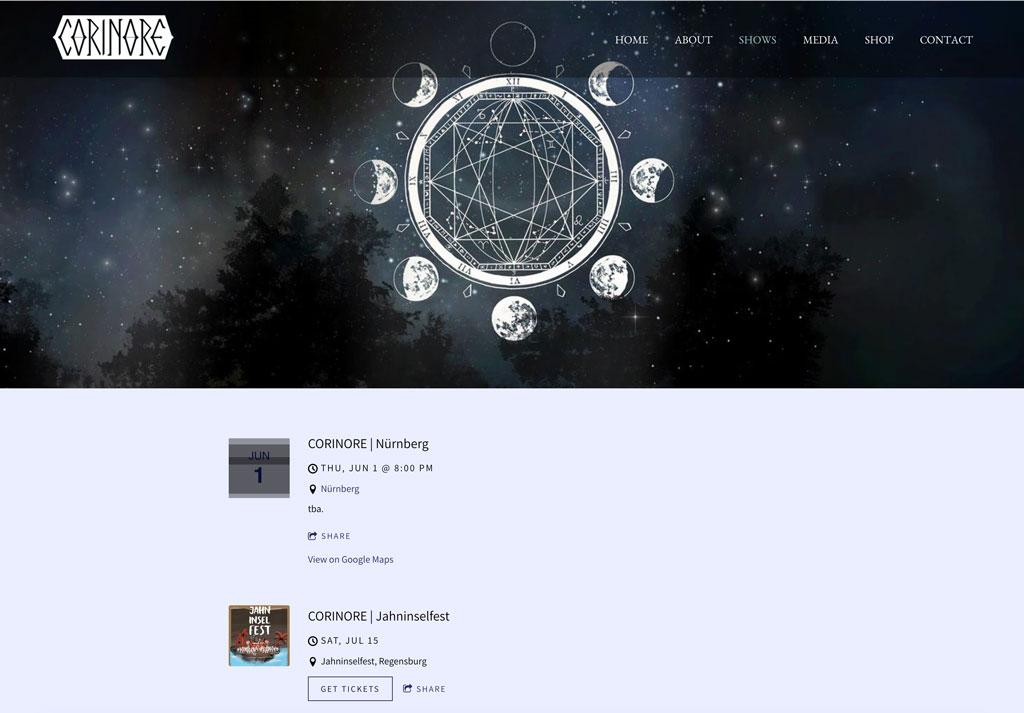 Corinore website customization