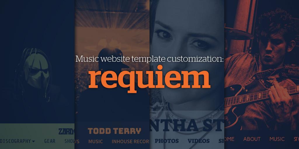 Music Website Template Customization: Requiem
