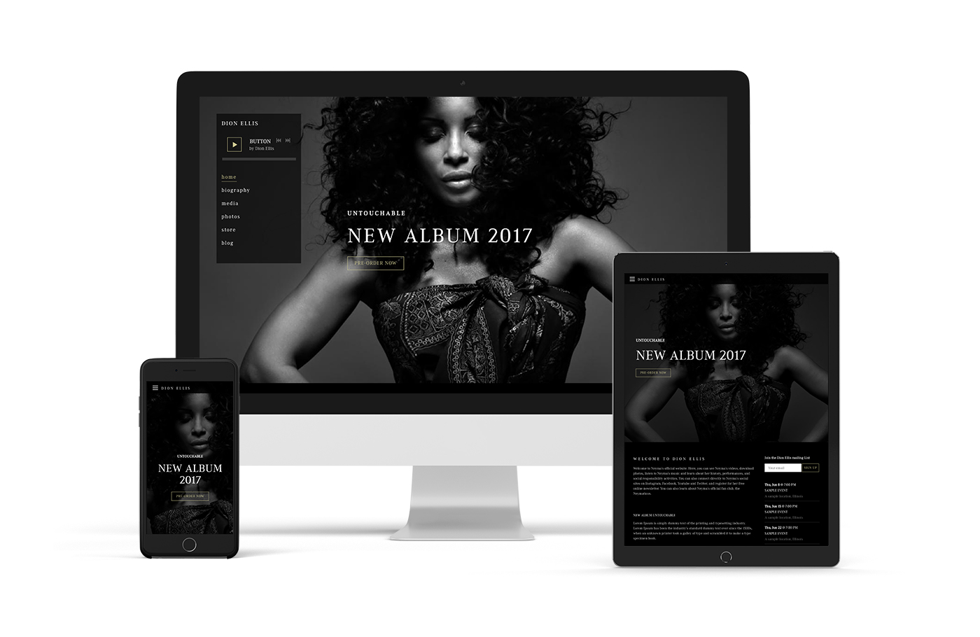 Mobile-friendly band website template