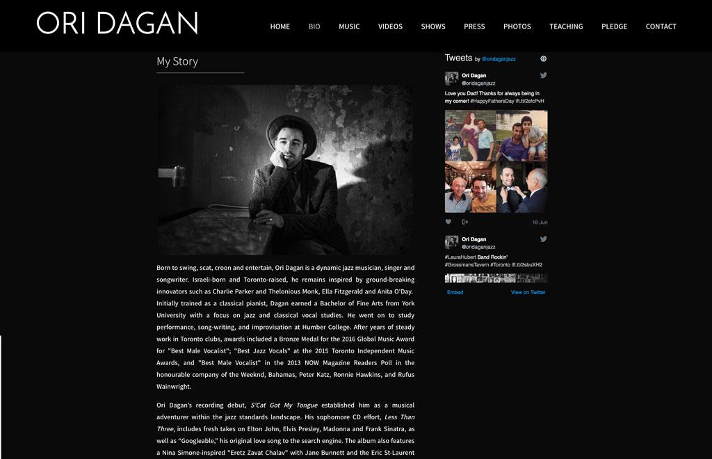 ori dagan bio page