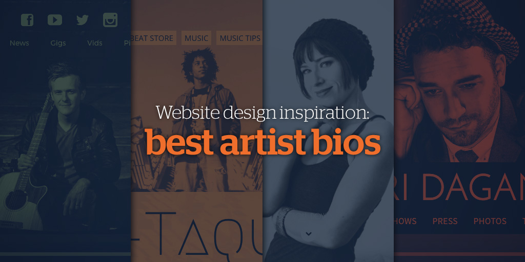Website Design Inspiration: Best Artist Bios