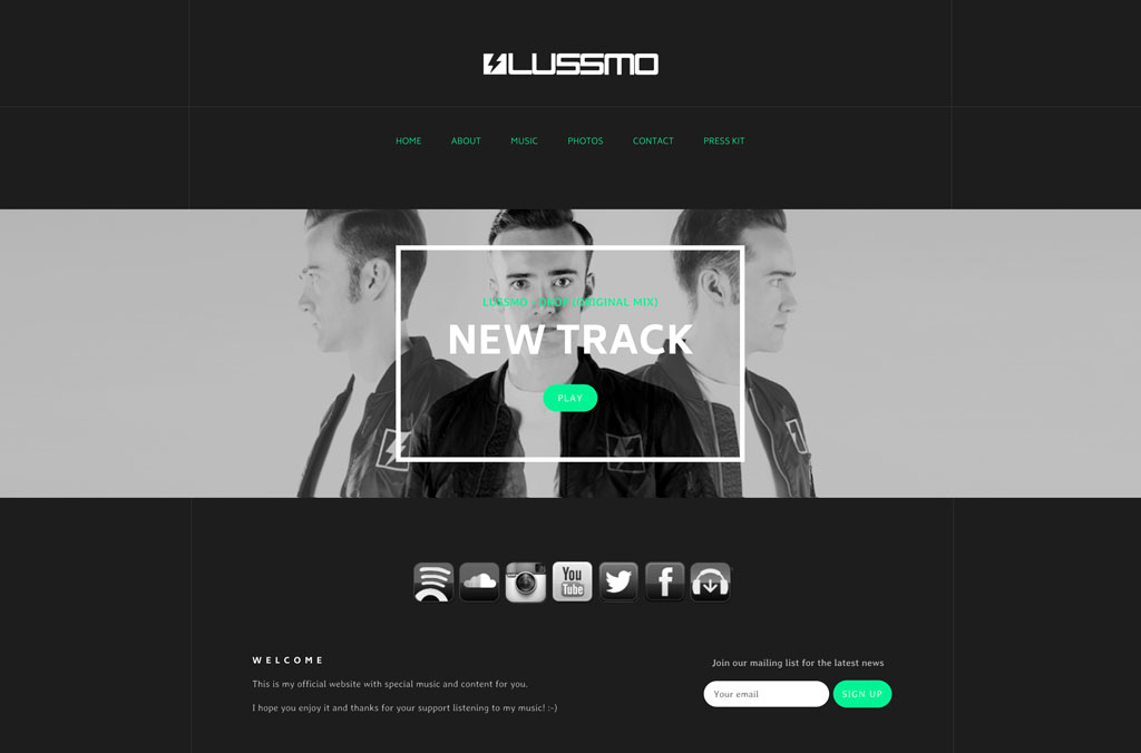 DJ Lussmo website