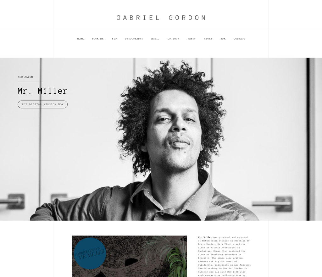 Gabriel Gordon website customization