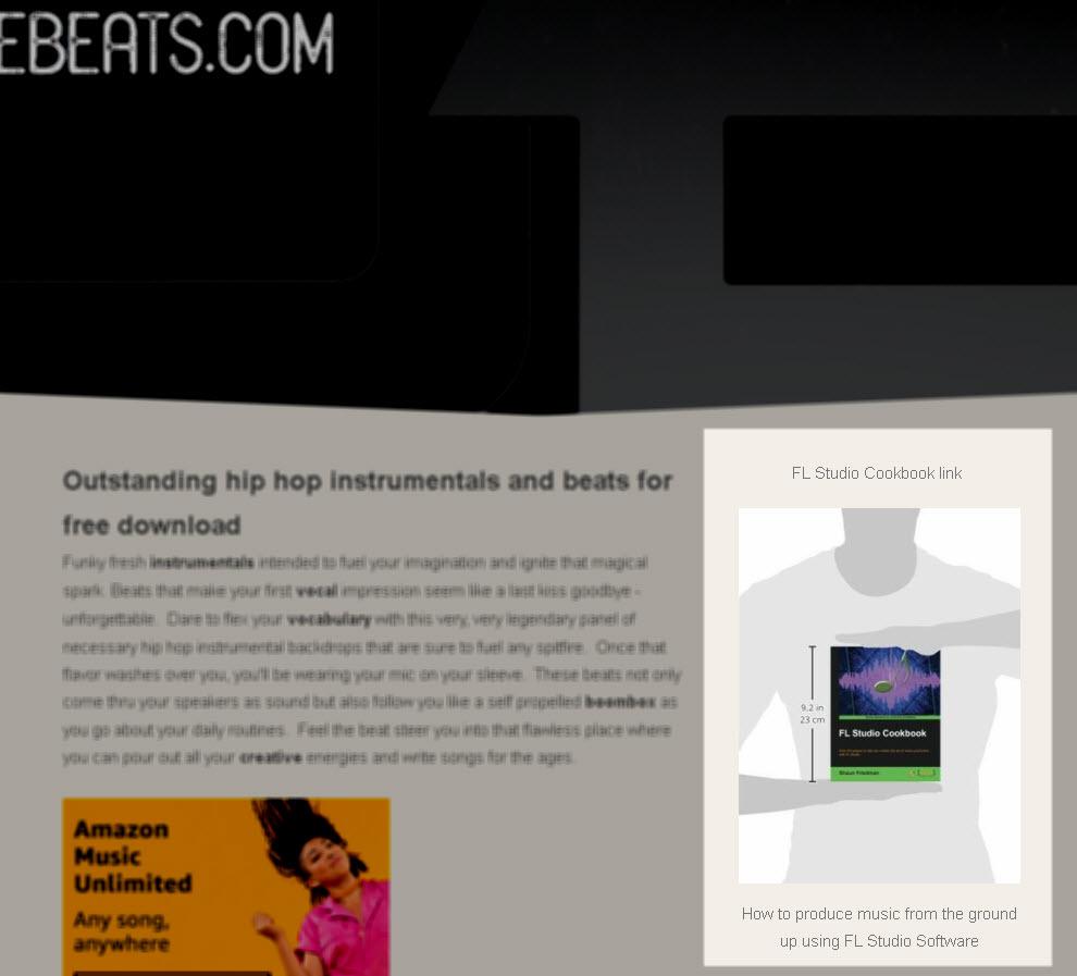 Free beats book promo