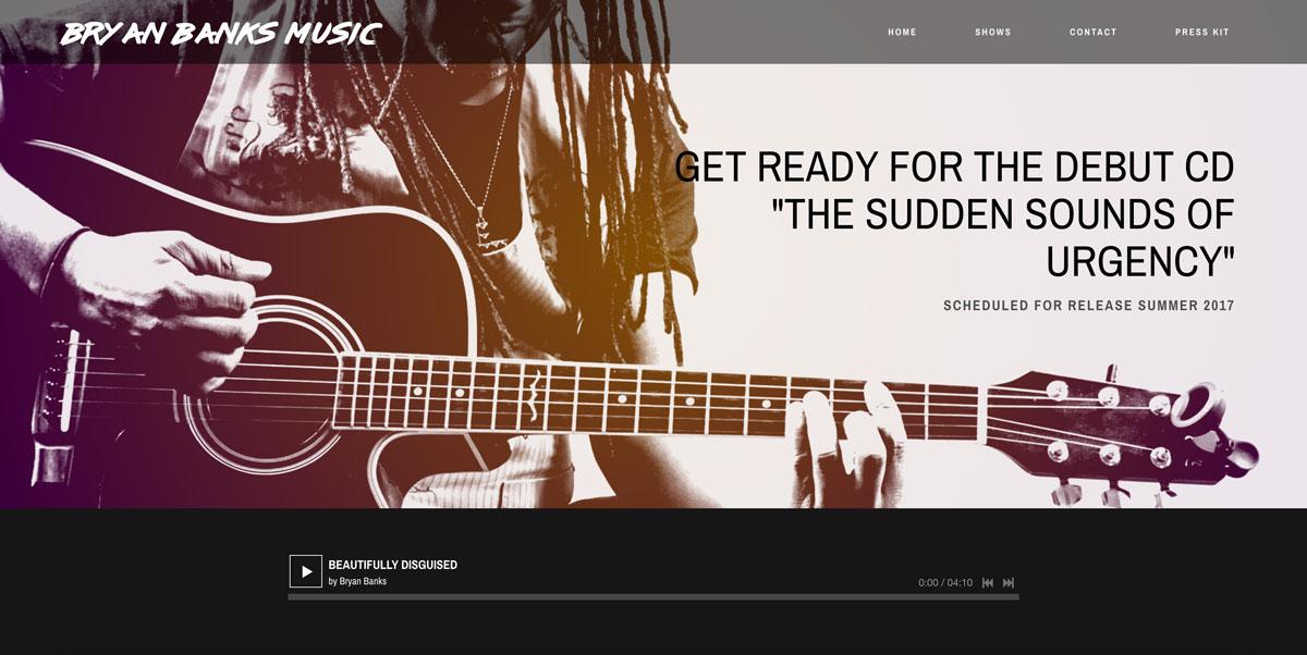 Bryan Banks Music website customization