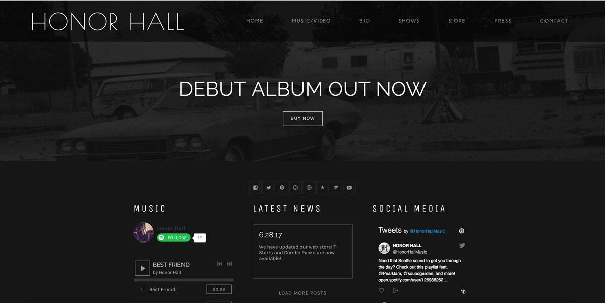 Honor Hall website customization
