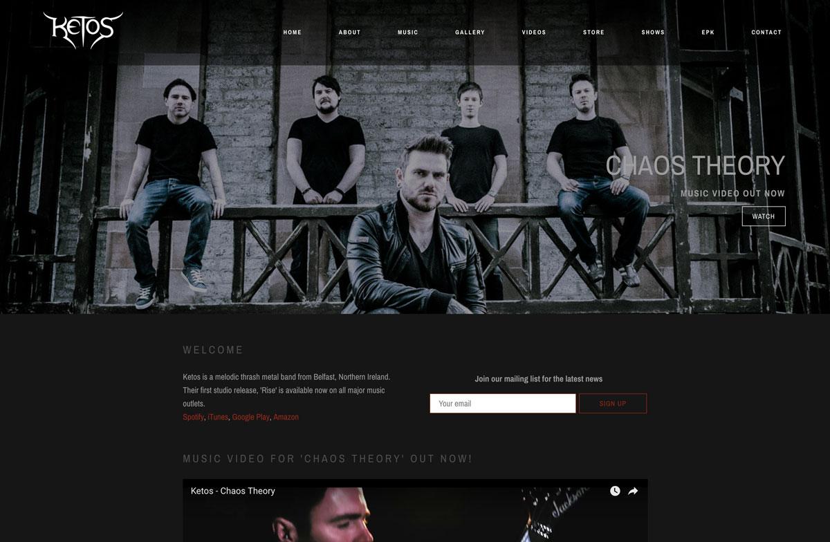 Ketos website design customization