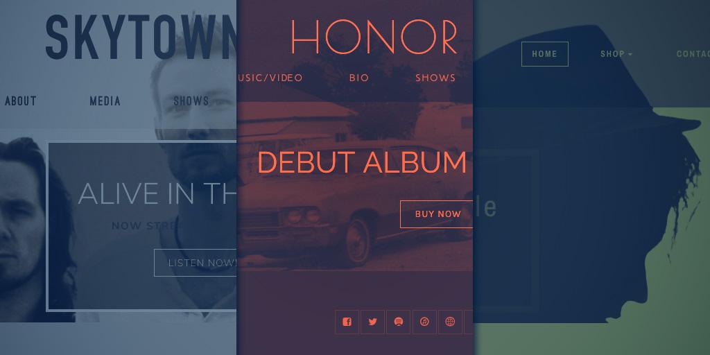 Music Website Template Customization: Trident