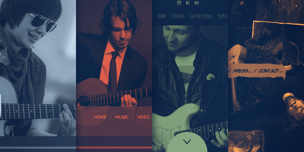 Website Design Inspiration: Best Guitarist Websites