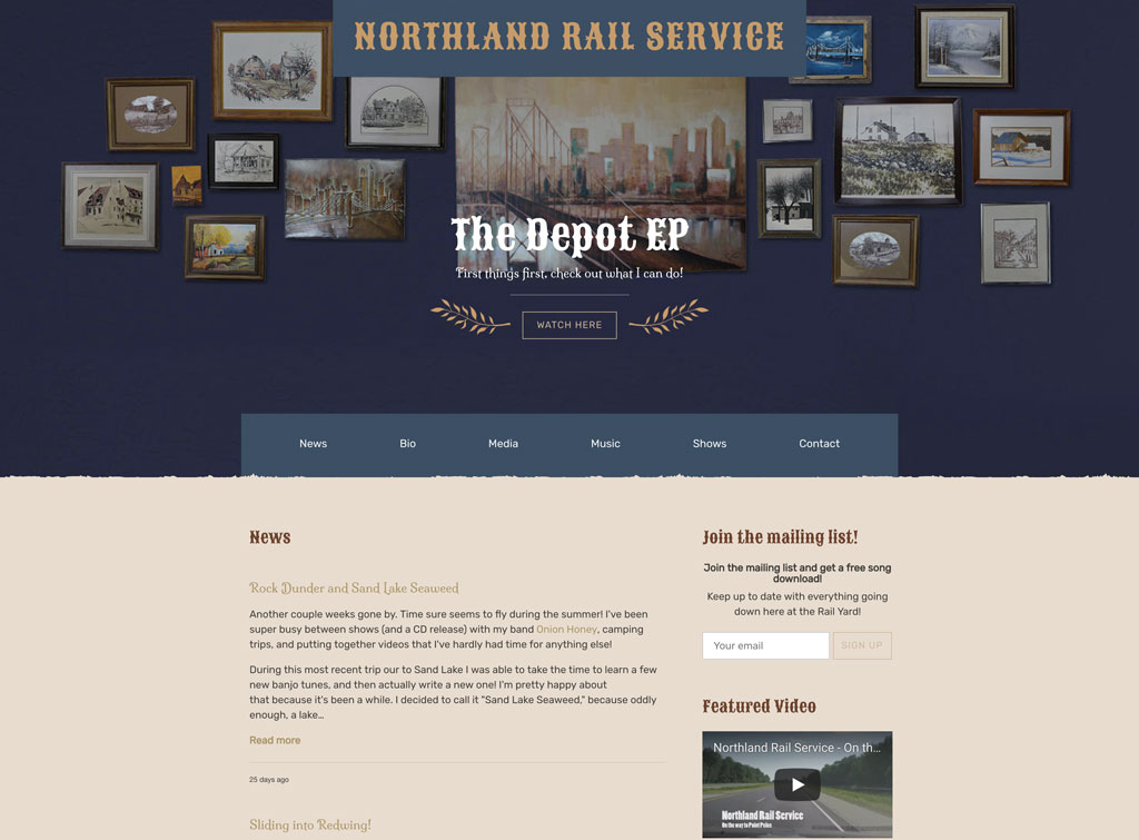 Northland Railway website
