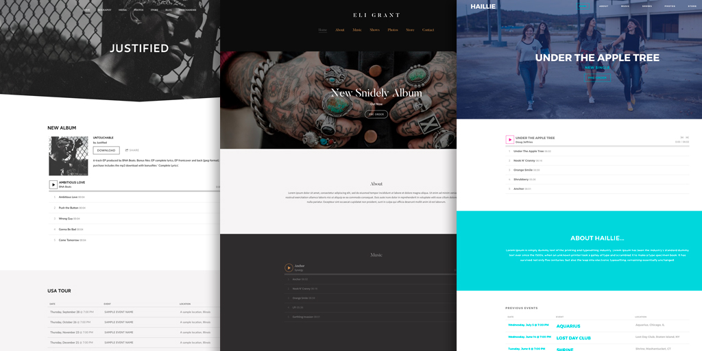 New Website Themes: Playful, Elegant, and Neutral