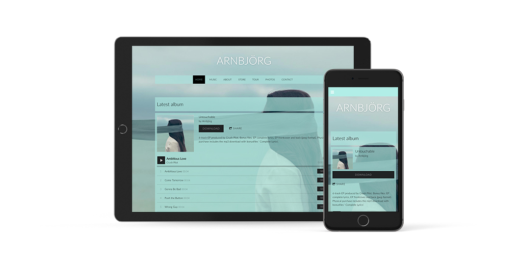Mobile ready website template