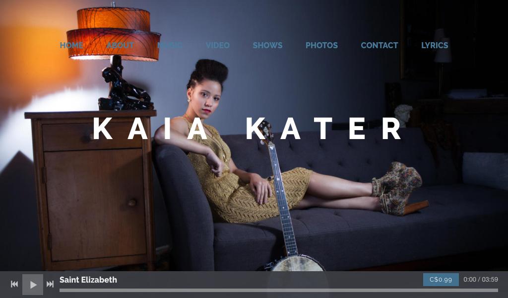 Professional Header Image on Music Website