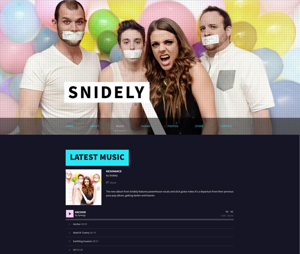 Music website design music player