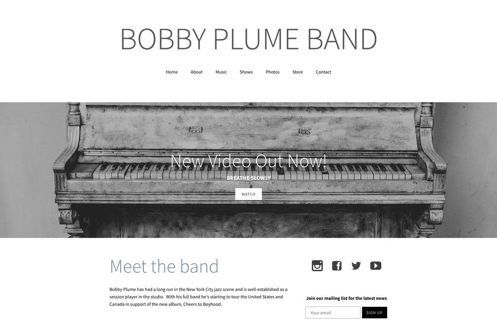Music website Design Good Typography