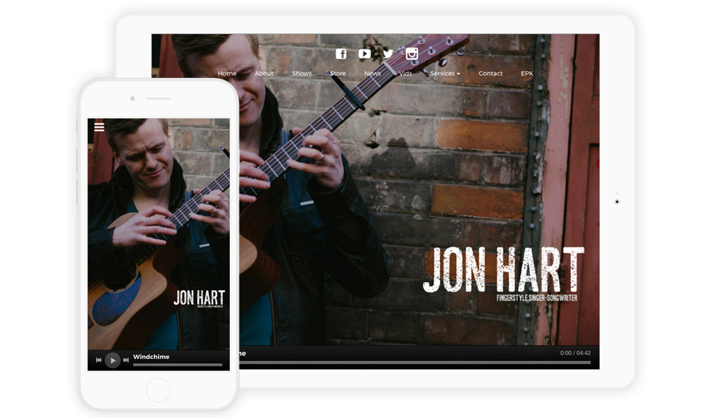 Mobile friendly Music Website Design