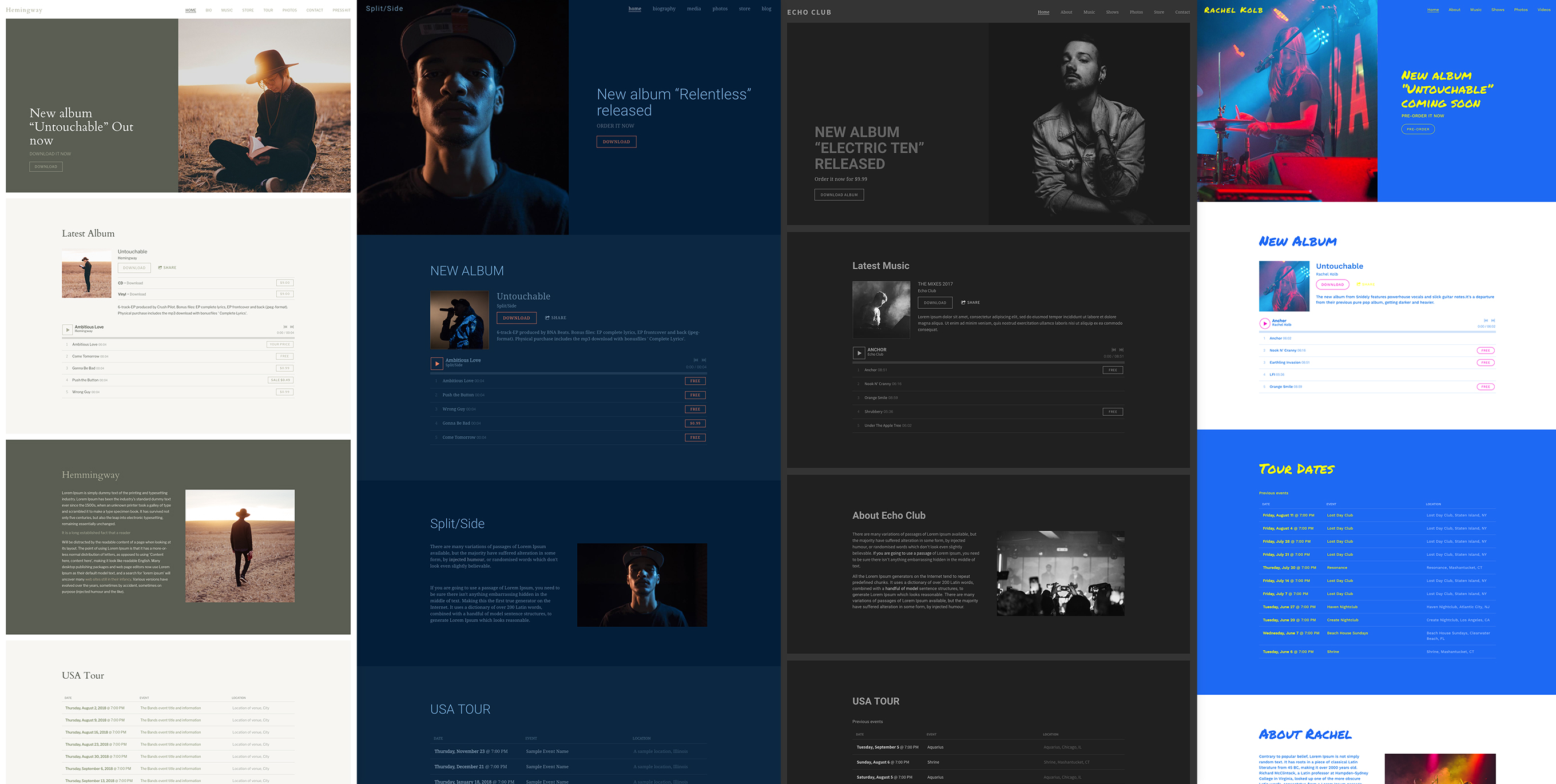 New Website Theme: Duet - Four unique template variations