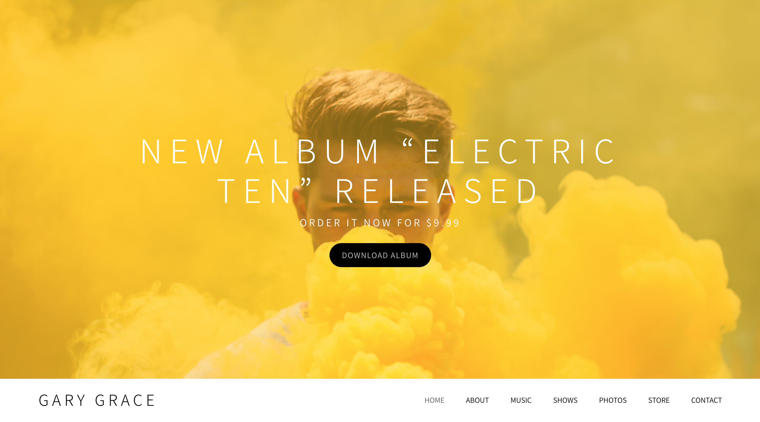 Zenith music website template variation