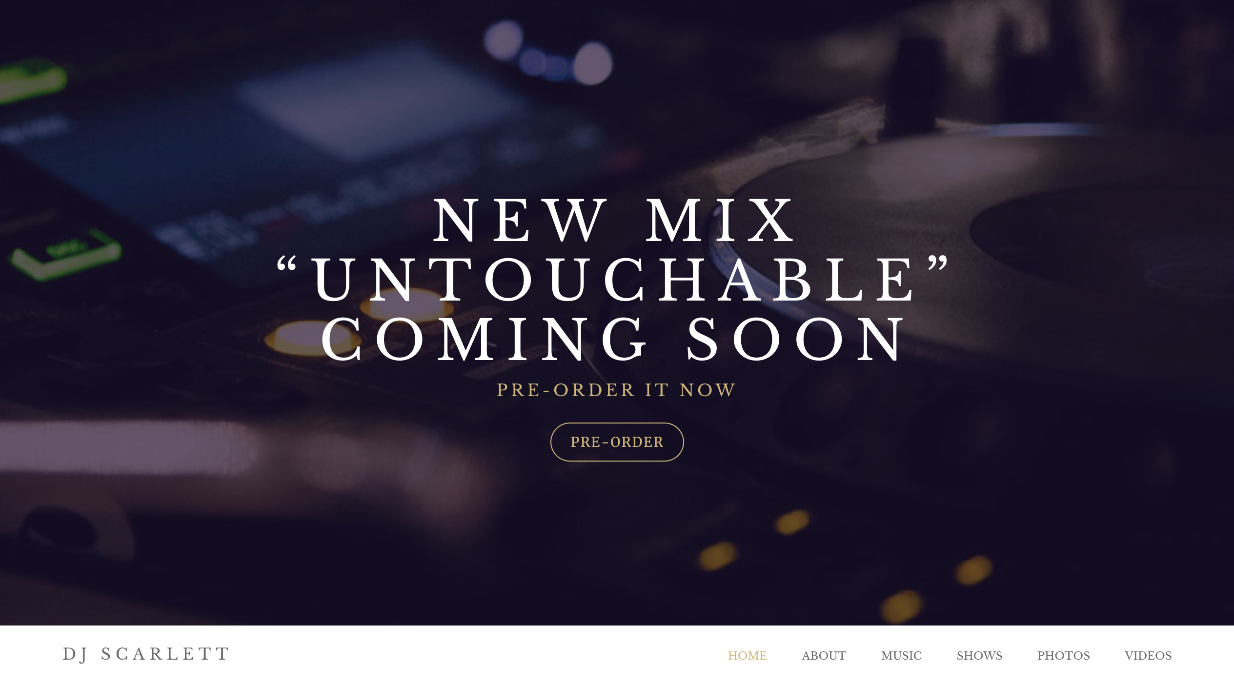 Zenith music website template variation 2