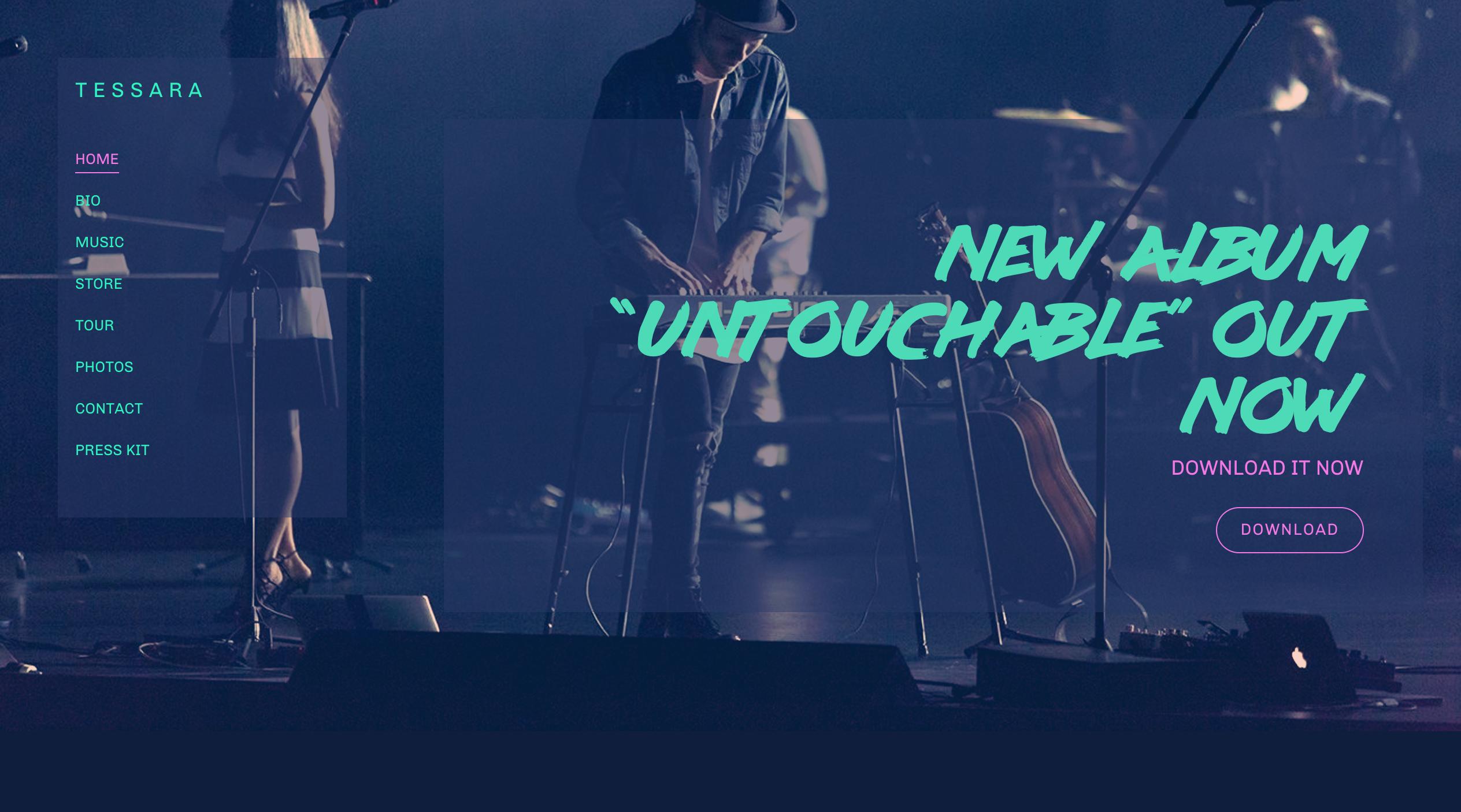 Nocturne music website template variation